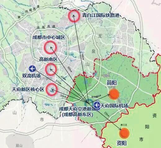 成都高新区托管简阳12个乡镇 建设天府空港新城